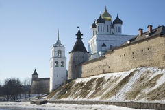 February day at the Pskov Kremlin Stock Photo