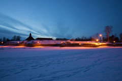 February evening at Korela fortress. Priozersk, Russia Stock Image