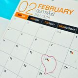 14 February. Valentine day Royalty Free Stock Photography