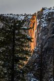 Horse tail falls turning into lava royalty free stock image
