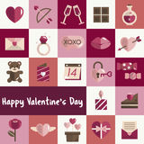 February Happy Valentine Icon Set Vector Stock Photo