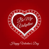 February 14 Happy Valentines Day Card. Design Royalty Free Illustration