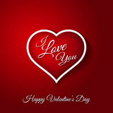 February 14 Happy Valentines Day Card Royalty Free Stock Images
