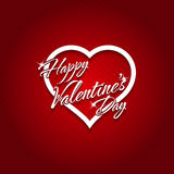 February 14 Happy Valentines Day Card Stock Photo