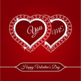February 14 Happy Valentines Day Card. Design Stock Illustration