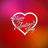 February 14 Happy Valentines Day Card Stock Photos