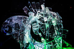 February 2013 - Harbin, China - Beautiful ice statues at the Ice Lantern Festival Stock Photos