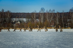26 February 2017 the Holiday of Maslenitsa in Borodino. The annual celebration that marks the end of winter and arrival of spring. People having fun, eating stock images