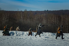 26 February 2017 the Holiday of Maslenitsa in Borodino. The annual celebration that marks the end of winter and arrival of spring. People having fun, eating stock image
