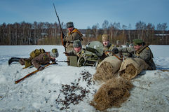 26 February 2017 the Holiday of Maslenitsa in Borodino. The annual celebration that marks the end of winter and arrival of spring. People having fun, eating stock photos