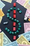 February 8, 2015: Houston, TX, USA.  Monopoly money around house Stock Images