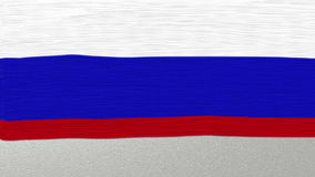 23 February inscription on russian flag background. Brush painted 23 February inscription on the white, blue and red stripes of oil paint, forming russian flag stock video