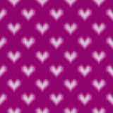 14 February Knitted Pattern with Hearts. St Valentine`s Day Seamless Vector Background Stock Photo