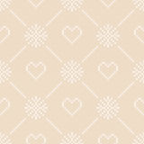 14 February Knitted Pattern with Hearts. St Valentine`s Day Seamless Vector Background Royalty Free Stock Image