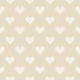 14 February Knitted Pattern with Hearts. St Valentine`s Day Seamless Vector Background Royalty Free Stock Images