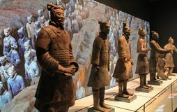 Terracotta Warriors Liverpool stock image