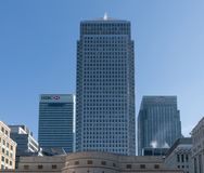 Financial District in Canary Wharf, London stock photo