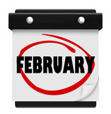 February Month Word Wall Calendar Remember Schedule Royalty Free Stock Images