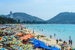 February-2014.Patong, Thailand: Famed Patong Beach Stock Images