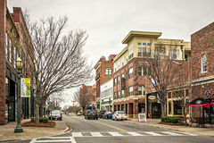 February 2017 Rock Hill USA - street scenes on a cloudy day around city of Rock Hill South carolina stock image