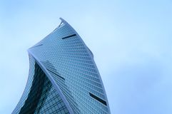 February 2019 Russia. Moscow. Moscow city skyscraper. buildings of business centers. blue tinted glass. stock photos