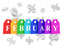 February sales low prices Royalty Free Stock Photography