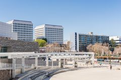 Urban landscape around the City Hall building in downtown San Jose stock photo