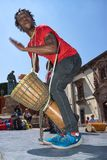 Percussionist African man performing in the center of San Miguel de Allende Mexico Royalty Free Stock Photo