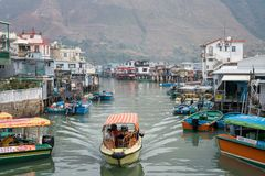 Houses Built on Stilts in Tai O royalty free stock image