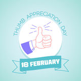 18 February  Thumb Appreciation Day Stock Images