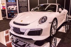 Canadian International AutoShow in Toronto. February 15, 2018. Toronto, Canada: Presentation of Porsche car during the 2018 Canadian International AutoShow Feb Royalty Free Stock Photo