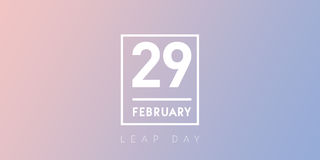 29 February typography on the serenity leap day background Stock Image