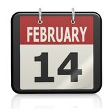 February 14, Valentine s Day calendar Royalty Free Stock Images