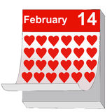 February 14, Valentine's Day, the day of love Stock Image