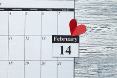 February 14, Valentine's day, heart from red paper Royalty Free Stock Photography