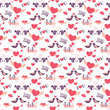 14 February Valentine's day pattern Stock Image