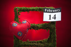 February 14, Valentine's day, red heart Royalty Free Stock Photography