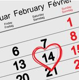 February 14 Valentines Day Stock Photo