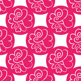 February 14, Valentines Day seamless pattern. Hand drawn heart doodle Royalty Free Stock Image