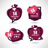 14 february, vector collection of hearts and love logo, emblems,. Labels and forms Royalty Free Stock Photography