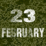 23 february. Vector illustration. Stock Photography