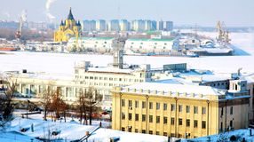 February view port Strelka Nizhny Novgorod Stock Photo
