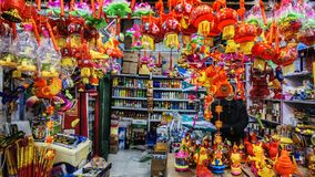 Shop selling lanterns Stock Photography