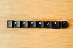 February word Royalty Free Stock Image