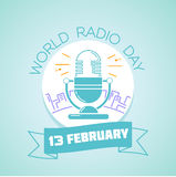 13 February  World Radio Day Stock Image