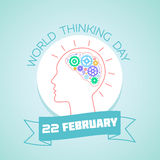 22 February World Thinking Day Royalty Free Stock Photo
