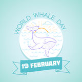 19 February World Whale Day Royalty Free Stock Photography
