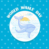 February World Whale Day Royalty Free Stock Images