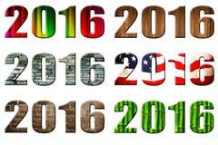 Fecha 2016 Imagen de archivo libre de regalías