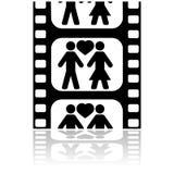 Fecha de la película ilustración del vector